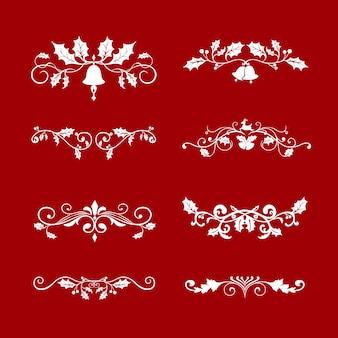 Ensemble de motifs de noël décoratifs pour le vecteur de cartes