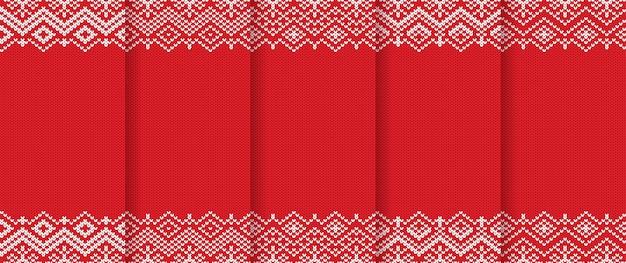 Ensemble de motifs de noël tricotés