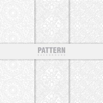 Ensemble de motifs orientaux. fond blanc avec des ornements arabes
