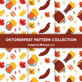 Ensemble de motifs les plus oktoberfest en conception plate