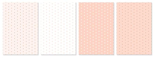 Ensemble de motifs de points. fond de bébé. couleur corail. illustration vectorielle. motif à pois.