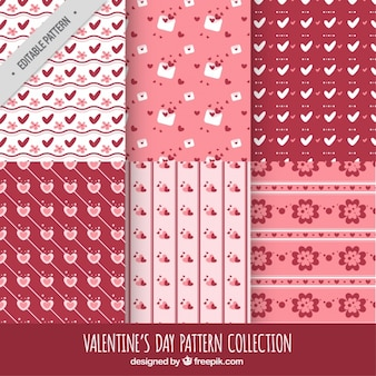 Ensemble de motifs rétro valentine décoratifs