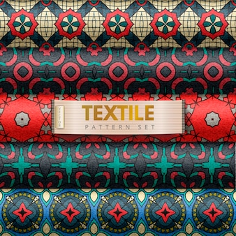 Ensemble de motifs textiles