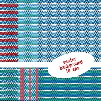 Ensemble de motifs tricotés