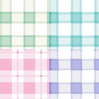 Ensemble de motifs vichy pastel