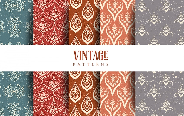 Ensemble de motifs vintage