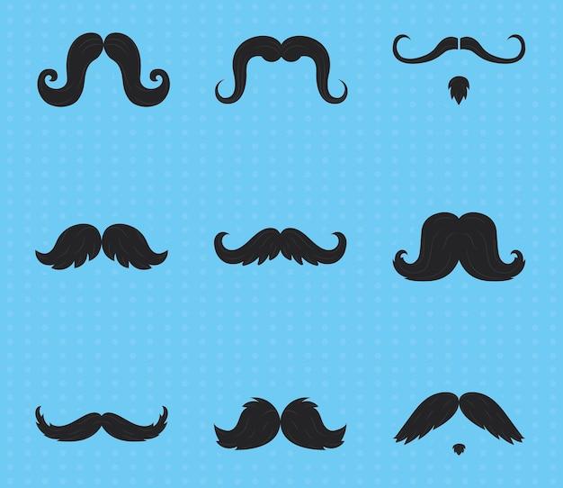Ensemble de moustaches movember