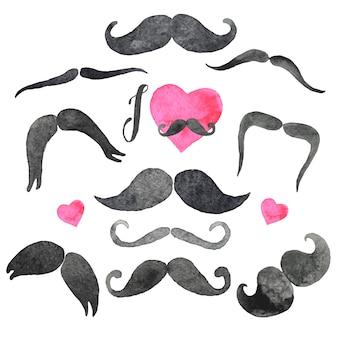 Ensemble de moustaches