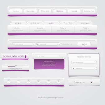 Ensemble de navigation web.