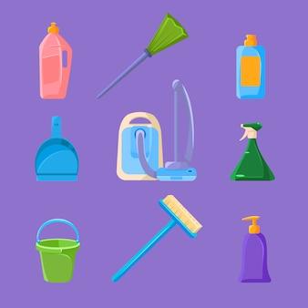 Ensemble de nettoyage et de ménage