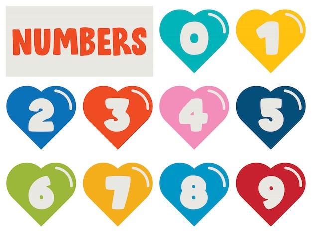 Ensemble de nombres pour l'éducation des enfants