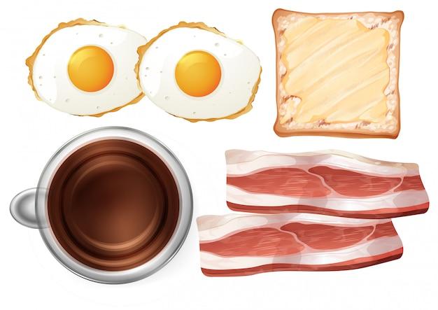 Ensemble de nourriture de petit déjeuner