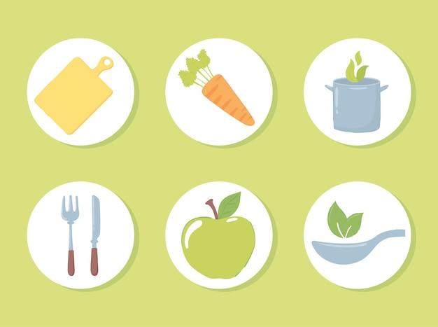 Ensemble de nourriture de produits frais