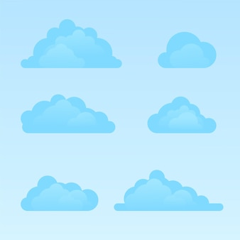Ensemble de nuages design plat