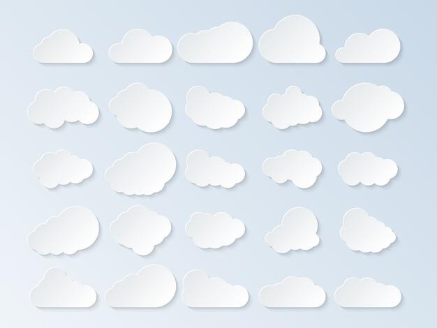 Ensemble de nuages de dessin animé.