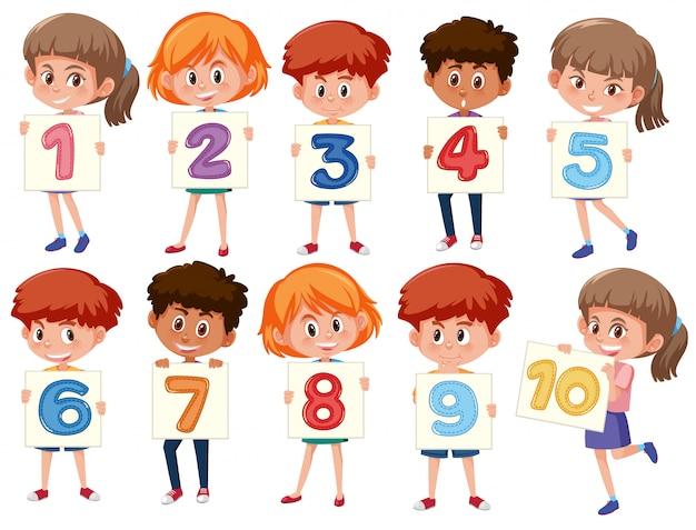 Un ensemble de numéros internationaux pour enfants