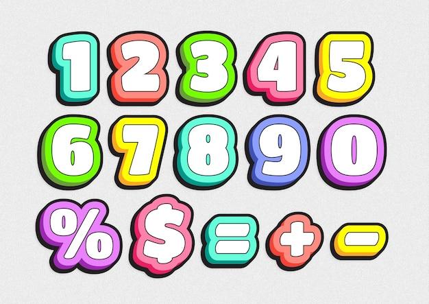 Ensemble de numéros de jeu pour jardins d'enfants