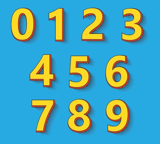 Ensemble de numéros rétro