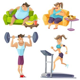 Ensemble d'obésité et de santé