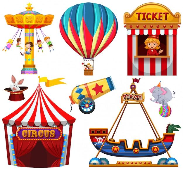 Ensemble d'objet de cirque