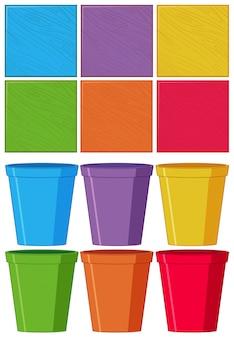 Ensemble d'objet de couleur