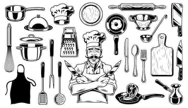 Ensemble d'objets de cuisine