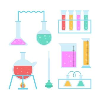 Ensemble d'objets de laboratoire scientifique