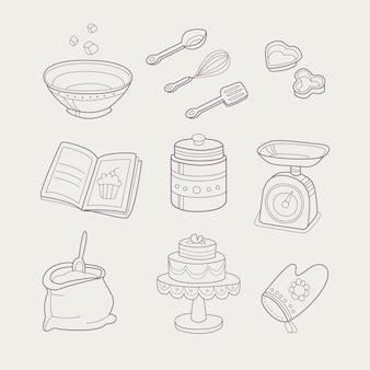 Ensemble d'objets liés à la cuisson