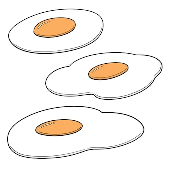 Ensemble d'oeufs au plat