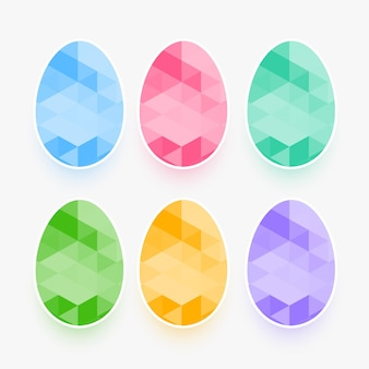 Ensemble d & # 39; oeufs de pâques dans le style de pierres précieuses