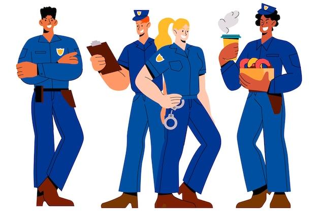 Ensemble d'officiers de police