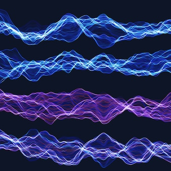 Ensemble d'ondes chaotiques d'énergie.