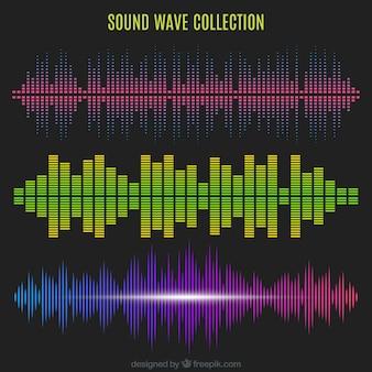 Ensemble d'ondes sonores avec différentes conceptions