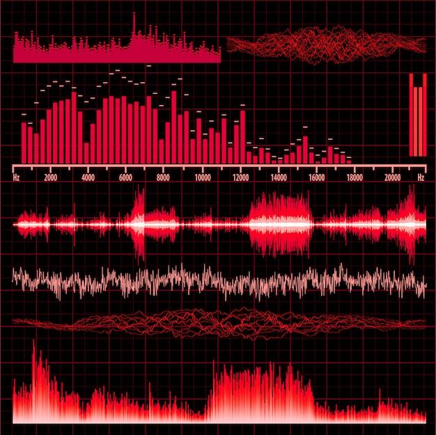Ensemble d'ondes sonores. musique de fond.