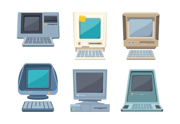 Ensemble d'ordinateurs rétro