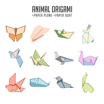 Ensemble d'origami animal