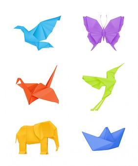 Ensemble origami, multicolore