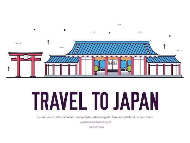 Ensemble d'ornement de pays du japon
