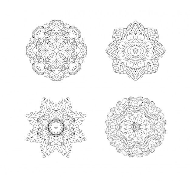 Ensemble d'ornements circulaires