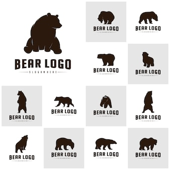 Ensemble d'ours logo icon designs vector. bears logo concepts