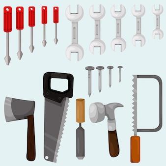Ensemble d'outils de charpentier