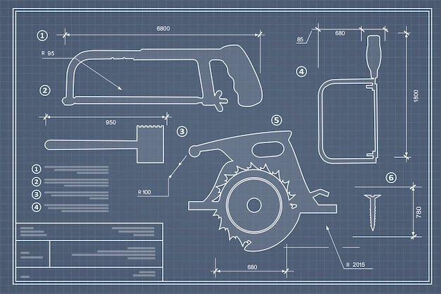 Ensemble d'outils de construction de silhouette