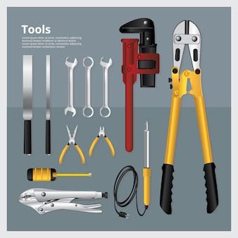 Ensemble d'outils illustration vectorielle collection