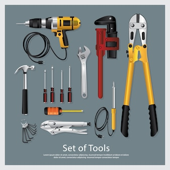 Ensemble d'outils illustration vectorielle collection