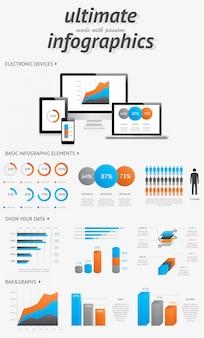 Ensemble d'outils impressionnant infographie
