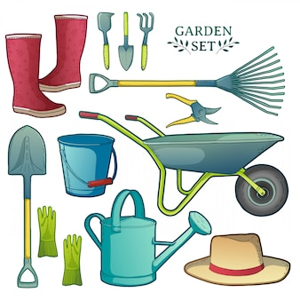 Ensemble d'outils de jardin