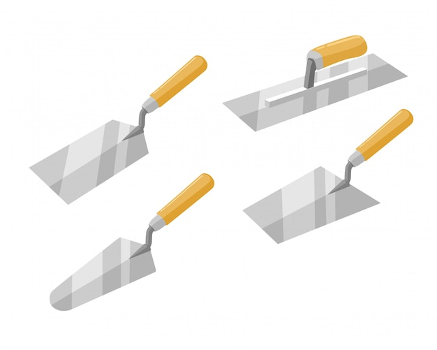 Ensemble d'outils de maçonnerie