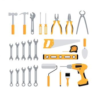 Ensemble d'outils de menuiserie