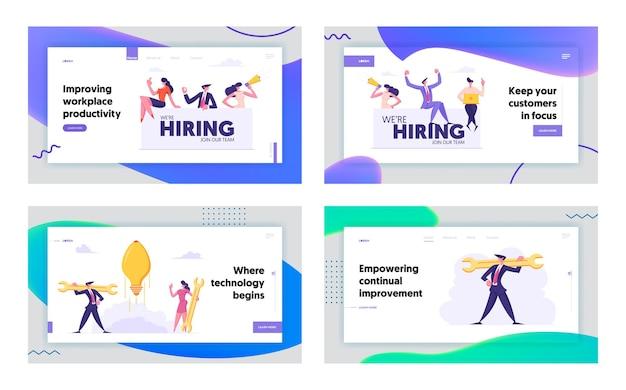 Ensemble de pages de destination concept idée créative concept