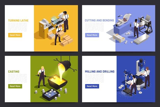 Ensemble de pages de destination des opérations de travail des métaux